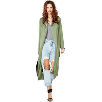 KHAKI DUSTER COAT