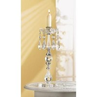 Cut Crystal Look Jeweled Candle Holder