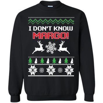Funny I Don't Know Margo Couples T-Shirt Christmas