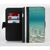 The Under The Sea Scenery Ink-Fuzed Leather Folding Wallet Credit-Card Case for the Apple iPhone 6/6s, 6/6s Plus, 5/5s and 5c