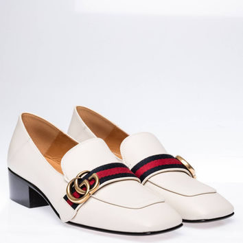 Gucci Women Leather Double G loafer