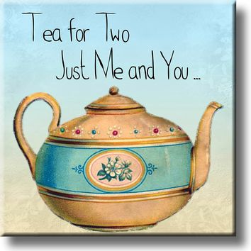 Tea for Two, Just Me and You Picture on Stretched Canvas, Wall Art Décor, Ready to Hang