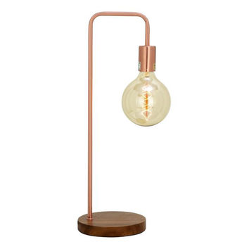 Chic Metal Copper Table Lamp with Bulb