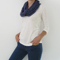 i-cord cowl, infinity scarf, knit snood, necklace