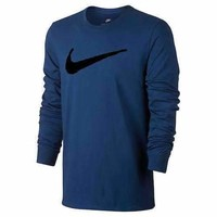 Nike Male Swoosh Logo T-Shirt, Navy (Size 3XL)