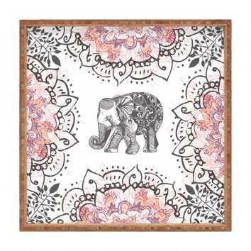 RosebudStudio Pretty Little Elephant Square Tray