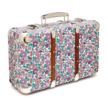 Flowers of Liberty Floral Print Suitcase