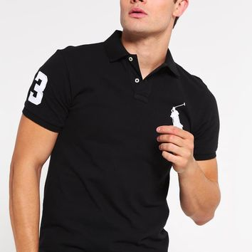 Polo Ralph Lauren Polo Shirt - Polo Black/white - Beauty Ticks