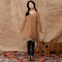 Long Sleeves oversized maternity sweater cardigan, Button up Cardigan with Linen bottom