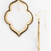 Women's Sole Society Drop Hoop Earrings - Antique