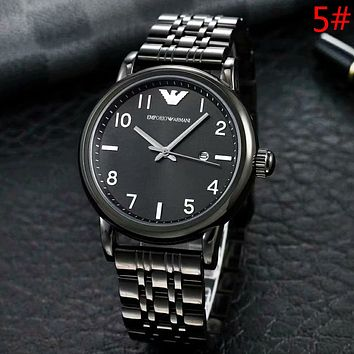 Emporio Armani Fashion New Dial Digital Couple Business Casual Personality Watch Wristwatch