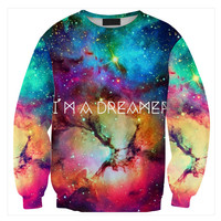 Womens Mens 3D Print Realistic Space Galaxy Animals Hoodie Sweatshirt Top Jumper Sws-0414
