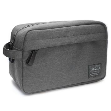 Toiletry Bag for Men, Airlab Multifunctional Cosmetic Bag Organizer, Robust and water-repellent, Size: 24 x 11,5 x 16cm (Gray)