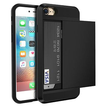 Credit Card Case For iPhone 7, 7 Plus, 8, 8 Plus and X