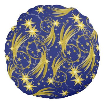Gold Stars and Comets Lord Byron Quote Pillow