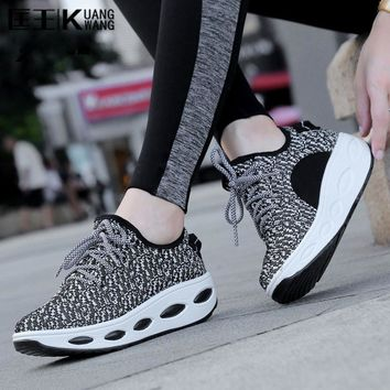 2017 Chaussure Femme Trainers Women Shoes Platform Creepers Woman Shoes Tenis Feminino