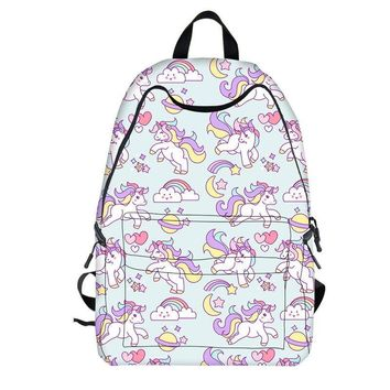 Kawaii Unicorn Design Backpack