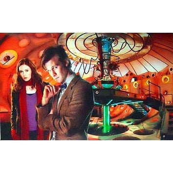DR. WHO MATT SMITH KAREN GILLAN TARDIS poster Metal Sign Wall Art 8in x 12in