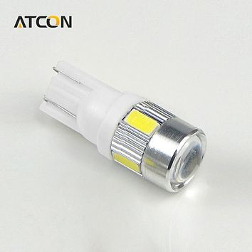 1X CANBUS T10 LED 194 168 W5W HID White Car Auto LED light 5730 SMD 6 LEDs Bulb Fog Turn Tail Signal DRL No Error Clearance lamp