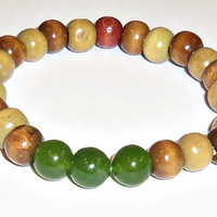 Men's Bracelet Liberty I Genuine Wood Brown and by ANenaJewelry