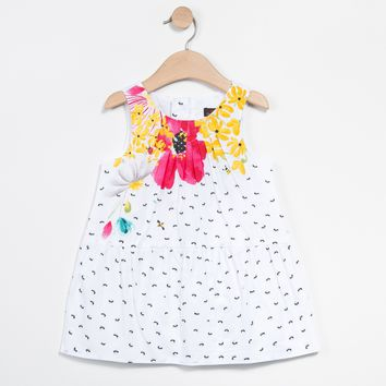 Catimini - Girls Ants Print Dress, White