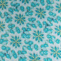 Teal Fabric Quilting Fabric Craft Fabric Cotton Fabric Flower Fabric Floral Fabric