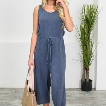 Lazy Days Navy Jumpsuit | Best Seller