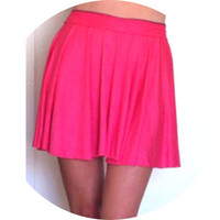 Bright Pink Skater Skirt by SarahLMeyers on Etsy