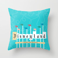 Park Entrance | Disney inspired Throw Pillow by Jordan Blaser