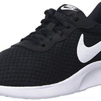 Nike Womens Tanjun Running Sneaker Black/White 7