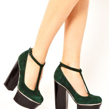 ASOS POTION Suede Platforms