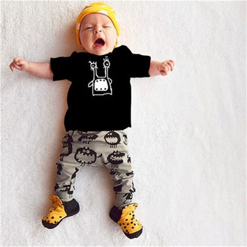 Baby boys/girls short sleeve cotton T-shirt + pants suit