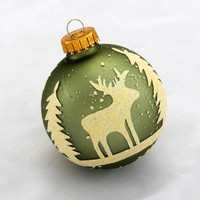 4 Christmas Ornaments - Equipped With Gold Caps