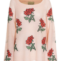 WILDFOX  A Rose Is A Rose Baby Patterned knit sweater - Pullover
