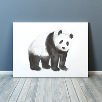 Cute panda poster Watercolor art print Nursery decor ACW23