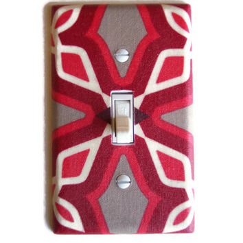 Modern Red Single Toggle Switch Plate, switchplate decor