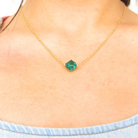 Lana Lang Kryptonite inspired Swarovski Necklace MORE by FairyChar