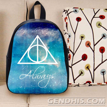 Deathly Hallows Always Harry Potter Custom Bag / School Bag / Childrent Bag / Custom School Bag