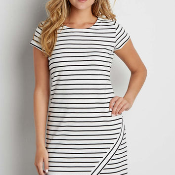 striped dress with asymmetrical hem | maurices