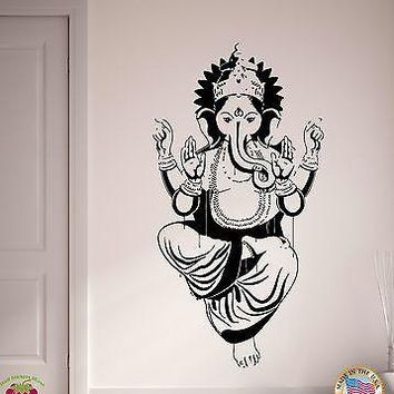 Wall Stickers Ganesha God Of Luck Arts Wisdom Gothic Religion Decor  Unique Gift (z2161)