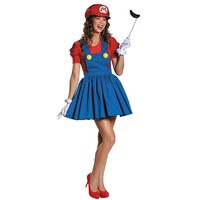 Super Mario Bros. Mario Costume - Adult (Blue/Red)