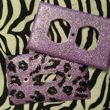 Leopard Print Glitterized Outlet/Light by MelaniesGlittermania