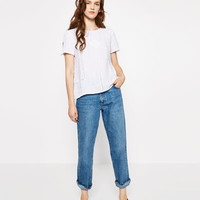 LACE TRIM LINEN BLOUSE - View All-TOPS-WOMAN | ZARA United States