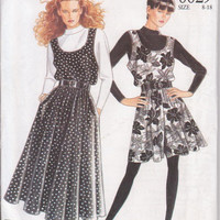 Vintage pattern for scoop neck jumper or culottes in calf or mini length misses size 8 10 12 14 16 18 New Look 6629 UNCUT