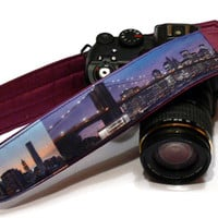 New York Camera Strap, dSLR Camera Strap, SLR, Nikon, Canon Camera Strap, Men, Women Accessories