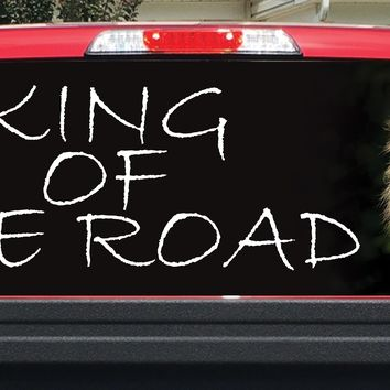 King Of The Road Lion Rear Window Decal