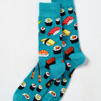 Say What You Sushi Men's Socks | Mod Retro Vintage Socks | ModCloth.com