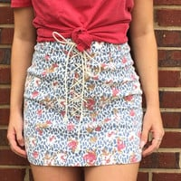 Lovely Laced Up Multi Skirt