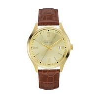 Caravelle New York by Bulova Men's Leather Watch (Brown)