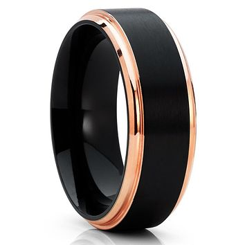 Black Titanium Ring - Titanium Wedding Band - Men's Wedding Band - Black Ring